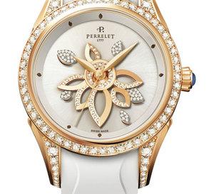 DiamonD Flower : Perrelet propose aux femmes des montres de joaillerie horlogère