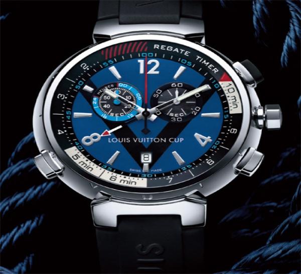 b6dee8da8e95 Le célèbre malletier français Louis Vuitton a présenté en novembre dernier  à l occasion du Louis Vuitton Trophy de Dubaï, sa nouvelle montre de  régate, ...