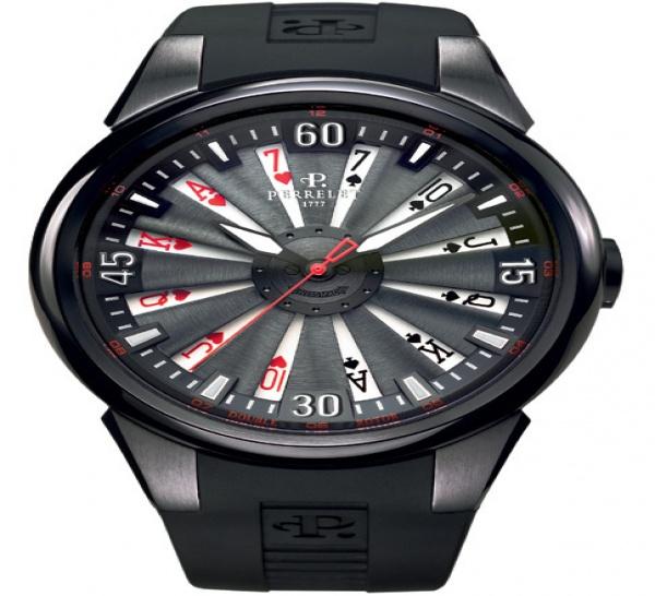 4acad8eef5 La marque horlogère suisse Perrelet se prend au jeu avec ses emblématiques  montres à double rotor, version Turbine. Et surtout, version poker avec  trois ...