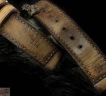 Bracelet-montre en cuir Corrigia : du neuf avec vieux