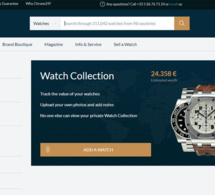 Watch collection : l'outil qui calcule la valeur de votre collection horlogère sur Chrono24