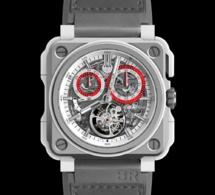Bell & Ross BR-X1 White Hawk : tourbillon chrono monopoussoir