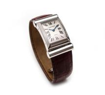 Old Time Heure : splendide Cartier Driver en or blanc 150ème anniversaire