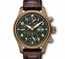 IWC Montre d'Aviateur Chronographe Spitfire : version bronze en 41 mm