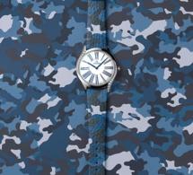 "Omega : des bracelets ""camo"" avec Kaia Gerber pour sa montre Trésor"