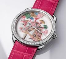 Hermès Arceau Harnais Remix : une miniature de porcelaine peinte pour cadran !