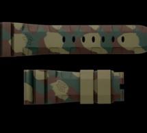 """Panerai : son fameux bracelet """"accordéon"""" en caoutchouc se fait """"camo"""""""
