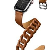 Hermès : un somptueux bracelet double tour Gourmette pour Apple Watch