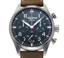 Alpina Startimer Pilot Chrononographe Big Date : flying blue…