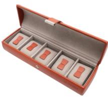 Le Tanneur : boite à cinq montres en cuir