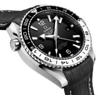 Omega Seamaster Planet Ocean GMT : lunette céramique noire et blanche